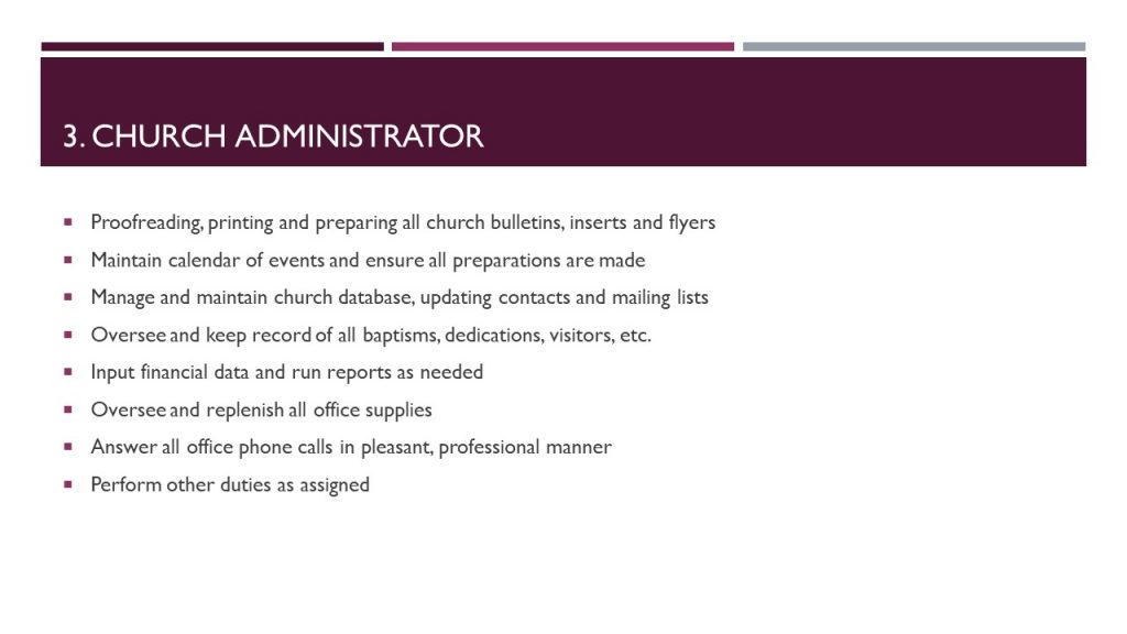 Church Administrator